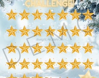 31 Day winter weight loss Challenge Instagram Posts Weight Loss Tracker