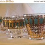 HALLOWEEN SALE 10 Pieces of Culver Azure Scroll Glassware. No Chips or Cracks.