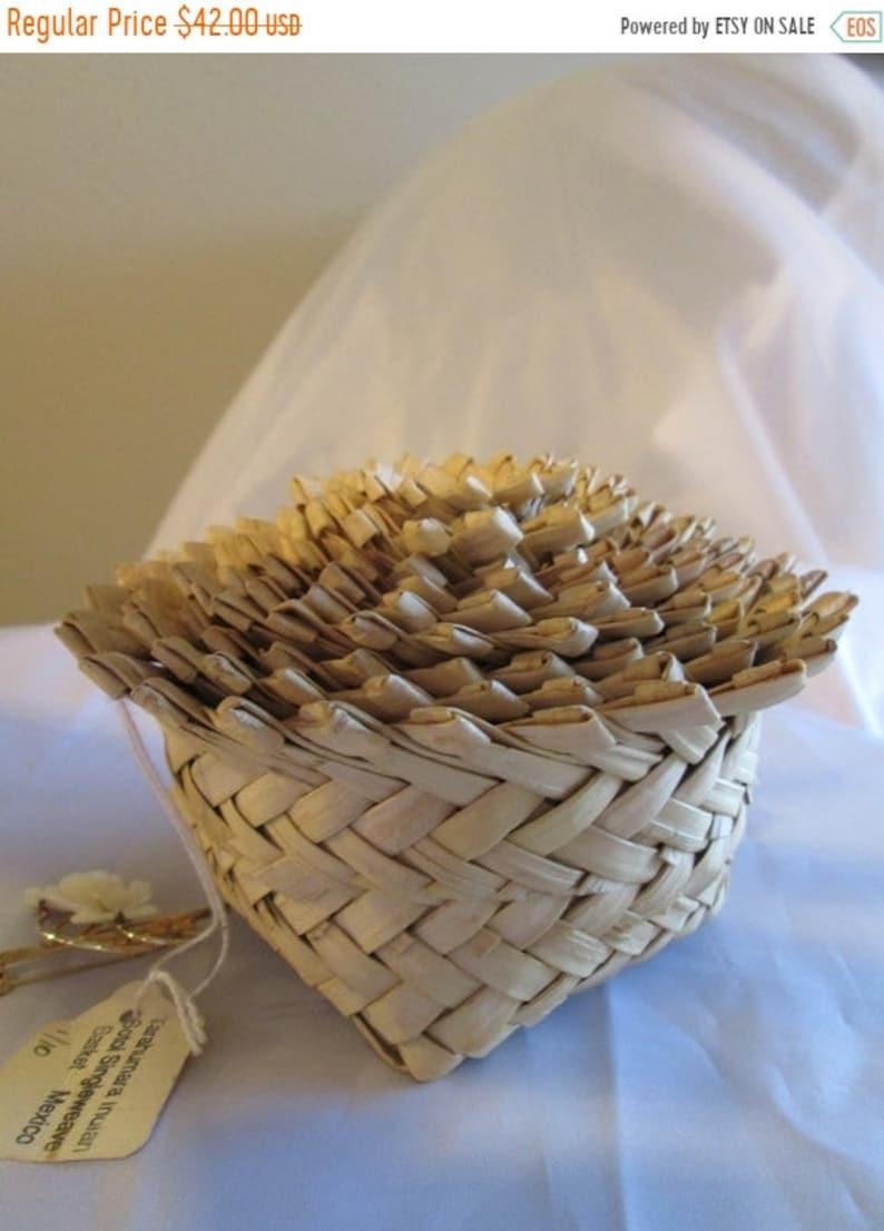 JANUARY SALE Tarahumara Nesting Baskets. Set of 10 Hand Woven image 0