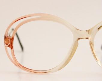 Vintage Italian tangerine Eyeglasses Frames