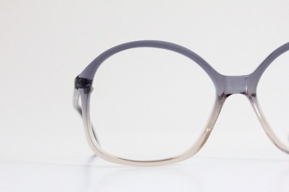 Vintage 80\'s Oversized German Purple Eyeglasses Frames