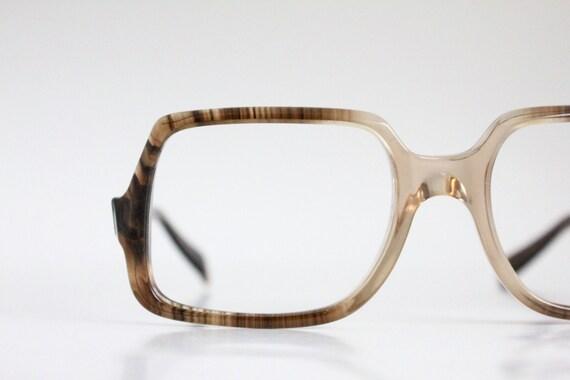 Vintage 70's unisex square tortoise frames