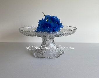 Wedding cake plate. Cake plate. Large serving platter. Pedestal platter. Pedestal food server. Wedding decor.