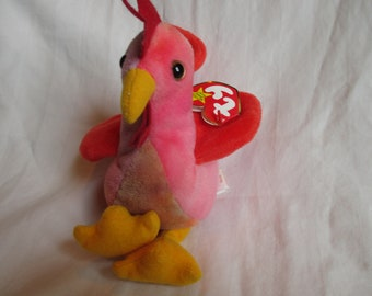 14b44505205 Vintage 1996 Strut Beanie Baby Rooster