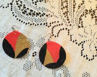 Hand-dipped Upcycled Keg Cap Earrings