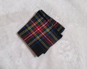 Cotton Flannel Hanky in Multi-Color Plaid