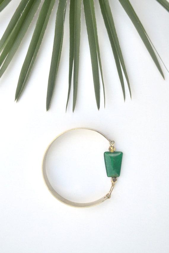 bracelet quartz vert meraude pierre semi pr cieuse. Black Bedroom Furniture Sets. Home Design Ideas
