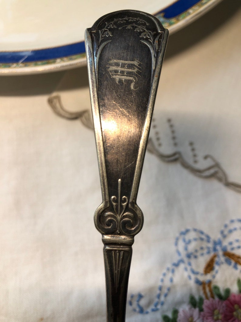 Antique Rogers /& Bro Silver Ladle Monogram M Spoon