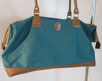 Ralph Lauren Green Canvas Tote Carry on app 22