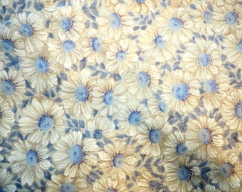 """DUVET ... King Duvet Duvet Cover Blue & White  Floral 68"""" w  x 88"""" Long"""