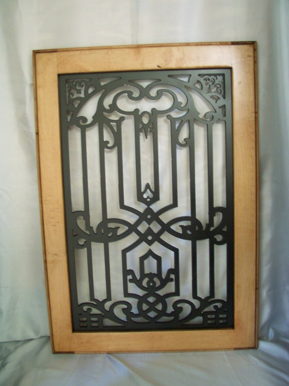 Orla Cabinet Door Panel Insert In Decorative Iron Available Etsy
