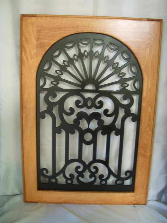 Cabinet Door Panel Insert In Decorative Ironsign Name Is Etsy