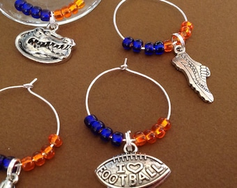College spirit - University of Florida Colors Wine Charms - with gift box