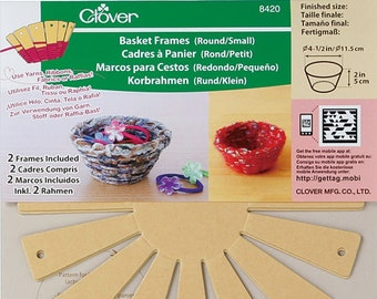 Basket Frames by Clover - Round #8420, Square #8421, Oval #8422, Square #8424, Oval #8425 - Select Your Style