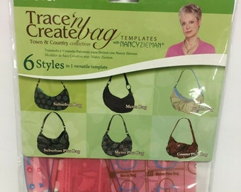 CLOVER - Trace 'N Create Bag Templates- Town & Country Bag Collection - #9500