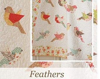 Feathers Quilt Pattern by Margot Languedoc Designs by The Pattern Basket - Print Pattern