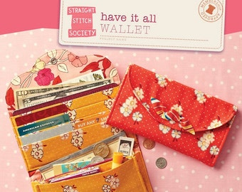 Have it all Wallet Pattern by Straight Stitch Society - Print Pattern