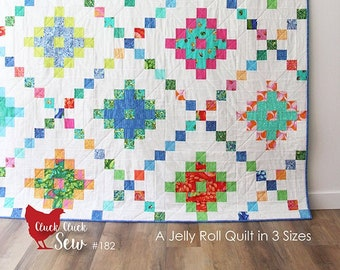 Pixel Chain Quilt Pattern by Cluck Cluck Sew - Print Pattern