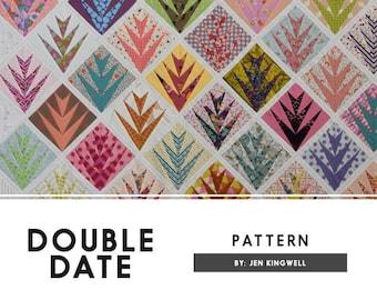 Double Date Quilt Pattern by Jen Kingwell Designs