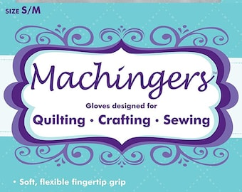 Machingers Quilting Gloves - Specifically Designed for Machine Quilters - by Quilter's Touch (Medium/Large)