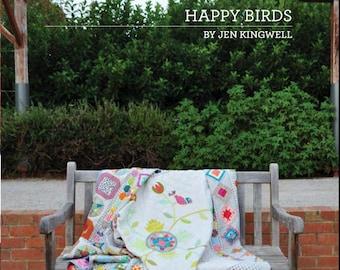 Happy Birds Quilt Pattern Book by Jen Kingwell Designs