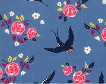 SALE Rosa by Crystal Manning for Moda - Carry My Soul - Sea - Light Blue - Cotton Quilt Fabric - Choose your Size