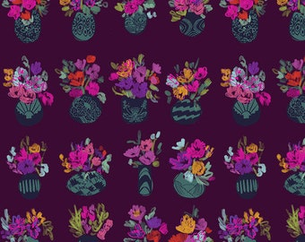 Flower Market by Courtney Cerruti - Anna Maria's Conservatory by Free Spirit - Bouquets D'Art - Morning - Select a Size -Cotton Quilt Fabric