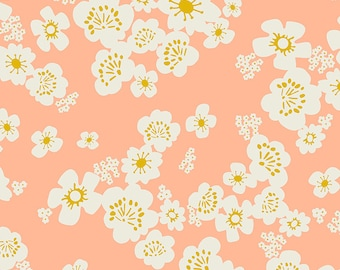 """108"""" Whatnot by Rashida Coleman Hale of Ruby Star for Moda - Peach - RS11171 11 - 1/2 Yard - 100% Cotton Quilt Back Fabric - Sateen"""