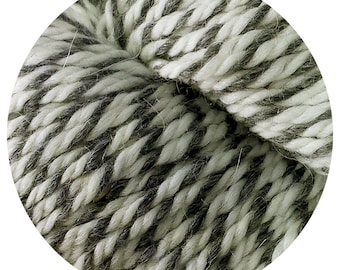 grey wolf weepaca by Big Bad Wool - light worsted yarn - 50% fine washable merino and baby alpaca - 95 yards
