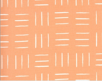 SALE Zoology by Gingiber - Opposing Lines - Flamingo - Peach - Select a Size - Cotton Quilt Fabric