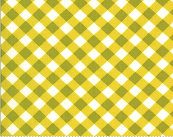 Blooming Bunch by Maureen McCormick - Brady Plaid- Citrine 40046 18 Select a Size- FQ - half or full yard- Moda Cotton Quilt Fabric