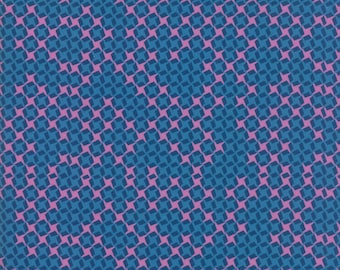 SALE Growing Beautiful by Crystal Manning for Moda - Checks - Dark Blue - Cotton Quilt Fabric - Choose your Size