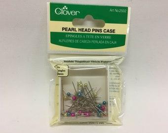 Clover - Pearl Head Pins - 40 Per Pack - #2502 - Discontinued