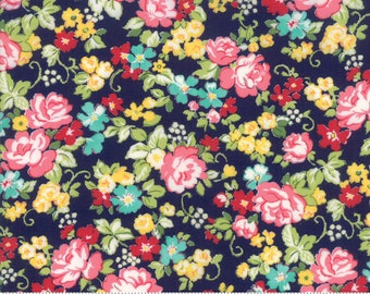 Regent Street Lawn 2018 by Moda - Hampton Court - Navy - Cotton Quilt Fabric 2020