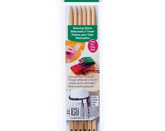 Weaving Sticks (Fine) by Clover - 6 Pcs. - #8440