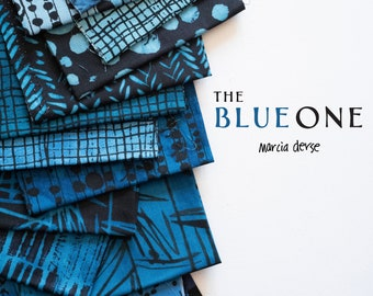 The Blue One by Marcia Derse - Pre-Cuts and Yardage Bundles - 100% Cotton Quilt Fabric