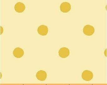 Sugarplum by Heather Ross for Windham Fabrics - Spot - Yellow - 50169-7 - 1/2 Yard Cotton Quilt Fabric