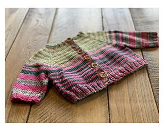 Itty Bitty Sweater Kit - Includes yarn, buttons & Free PDF knitting pattern - Free Shipping - Choose Your Color