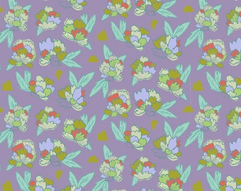 Flower Market by Courtney Cerruti - Anna Maria's Conservatory by Free Spirit - Tearose - Garden - Select a Size - Cotton Quilt Fabric
