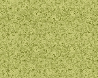 Spirit of Halloween by Cori Dantini for Free Spirit - We See You - Green - 100% Cotton Quilt Fabric - Choose your Size