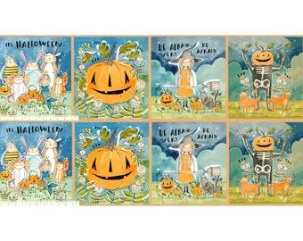 "Spirit of Halloween by Cori Dantini for Free Spirit - In the Spirit Panel - 100% Cotton Quilt Fabric - 24""x44"""