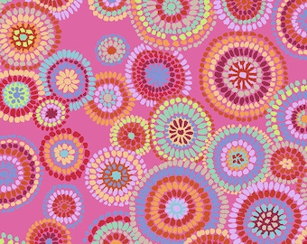 Kaffe Fassett Collective - Mosaic Circles - Pink - PWGP-176 - cotton quilt fabric - Choose Your Size K