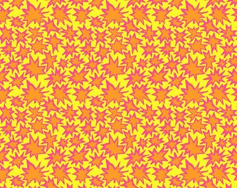 Kaffe Fassett Collective Spring 2019 by Brandon Mably for Free Spirit - Bang - Yellow - Cotton Quilt Fabric - Choose your Size K