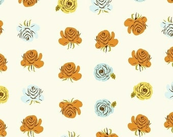 Far Far Away 2 by Heather Ross for Windham Fabrics - 51203-2 - Roses - Aqua - Cotton Quilt Fabric - Choose Your Size