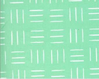 SALE Zoology by Gingiber - Opposing Lines - Aqua - Select a Size - Cotton Quilt Fabric