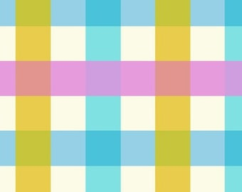Malibu by Heather Ross for Windham - Big Gingham - Aquamarine - 52148-2 - Select a Size - Cotton Quilt Fabric