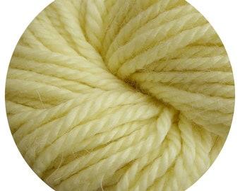 butter weepaca by Big Bad Wool - light worsted yarn - 50% fine washable merino and baby alpaca - 95 yards