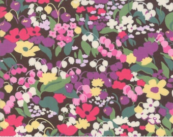 Regent Street Lawn 2019 by Moda - Chelsea - Chocolate - Brown - Cotton Quilt Fabric - Choose Your Size