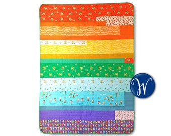 Kinder Rainbow Quilt Kit by Heather Ross - Made in-house