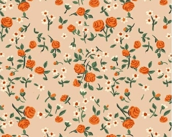 Trixie by Heather Ross for Windham Fabrics - 50898-7 - Mousies Floral - Peach - Cotton Quilt Fabric - Choose Your Size 2020